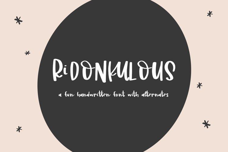 Ridonkulous Sans Font example image 1