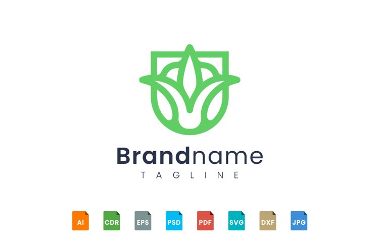 Flower logo design example image 1