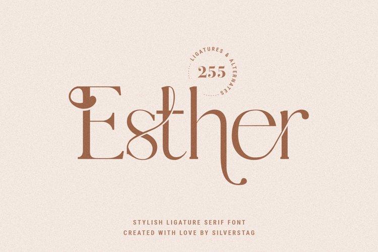 Esther - Stylish Ligature Serif Font example image 1