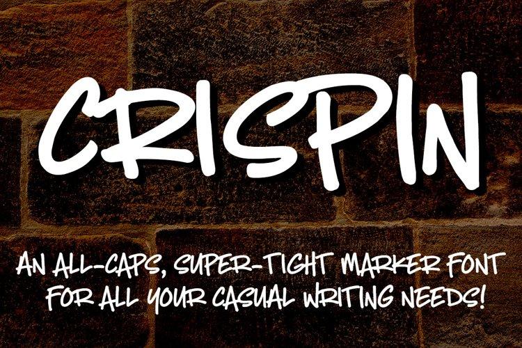 Crispin - handwritten marker font - Free Font of The Week Font