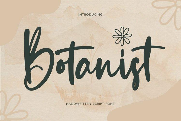 Web Font Botanist - Handwritten Script Font example image 1