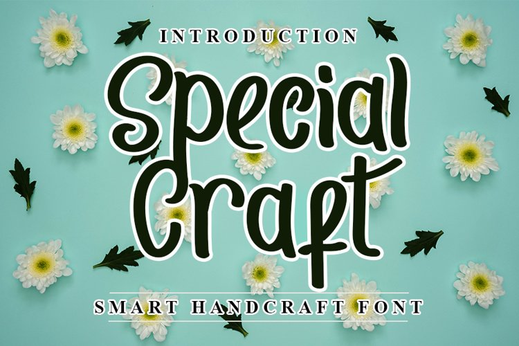 Special Craft - Smart Handcraft Font example image 1