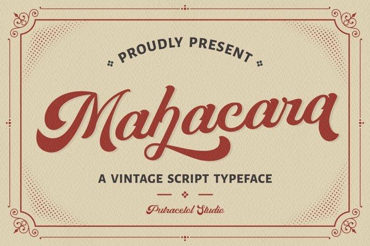 Mahacara - Vintage Script