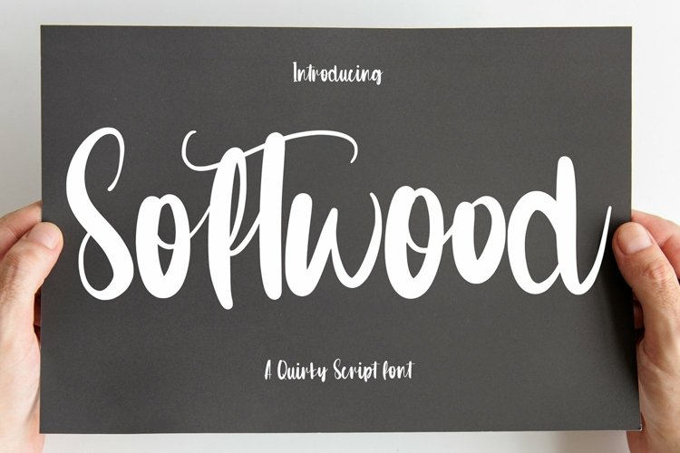 Web Font Softwood - Quirty Script Font example image 1