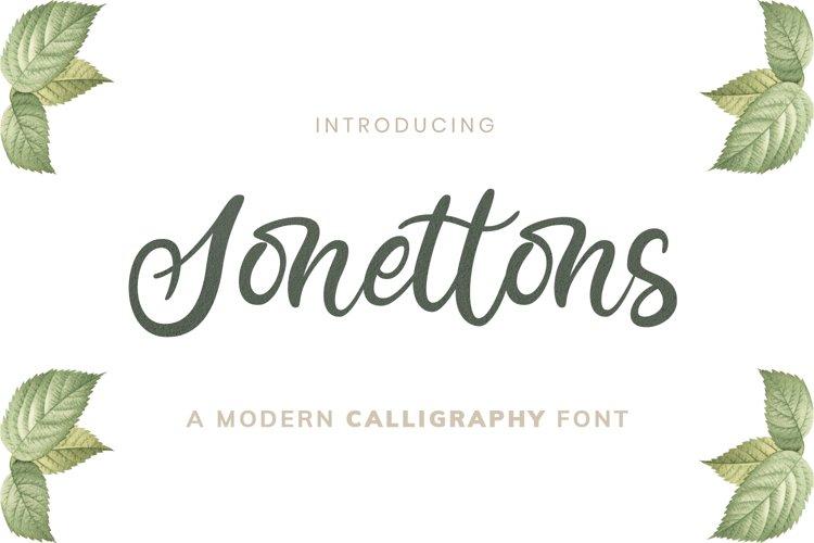 Sonettons Modern Caligraphy