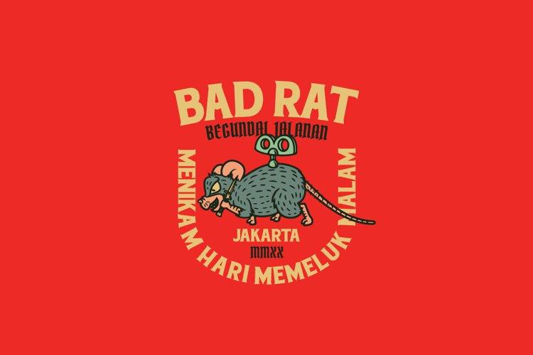 Bad Rat Logo Template example image 1