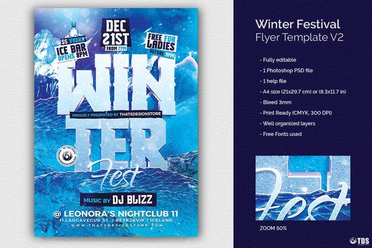 Winter Festival Flyer Template V2
