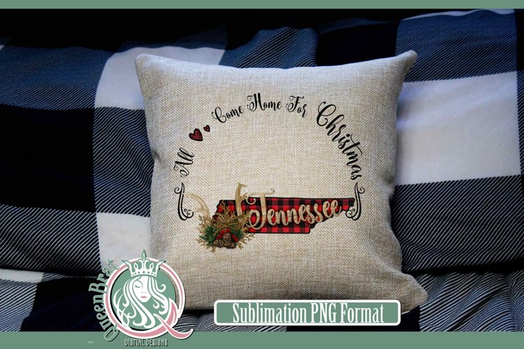 Sublimation | Tennessee Plaid Christmas State example image 1
