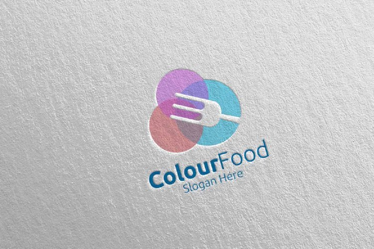 Color Food Logo for Restaurant or Cafe 67 example image 1