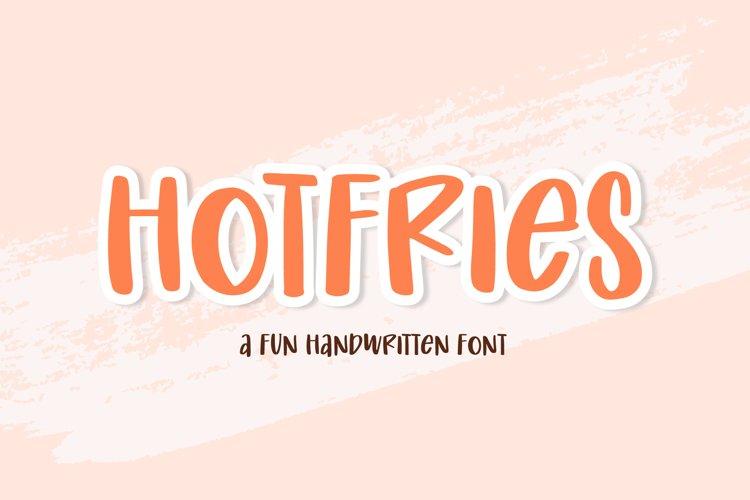 Hotfries - a Fun Handwritten Font