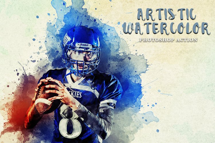 Artistic Watercolor Photoshop action example image 1
