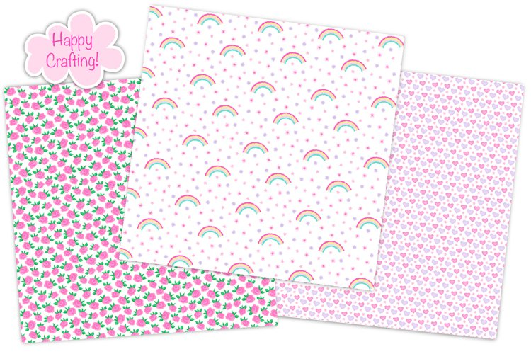 Fairy digital papers, Unicorn digital papers, Fairy patterns - Free Design of The Week Design3