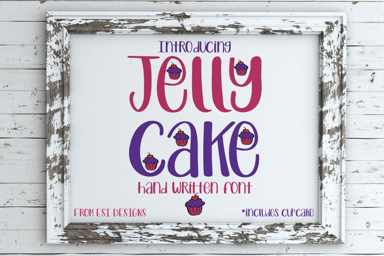 Jelly Cake - A Fun Modern Hand Drawn Font example image 1