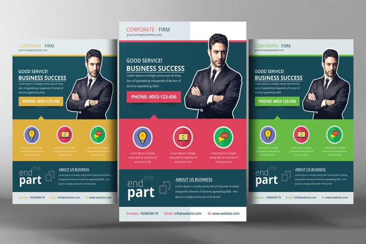 Corporate Office Flyer Template example image 1