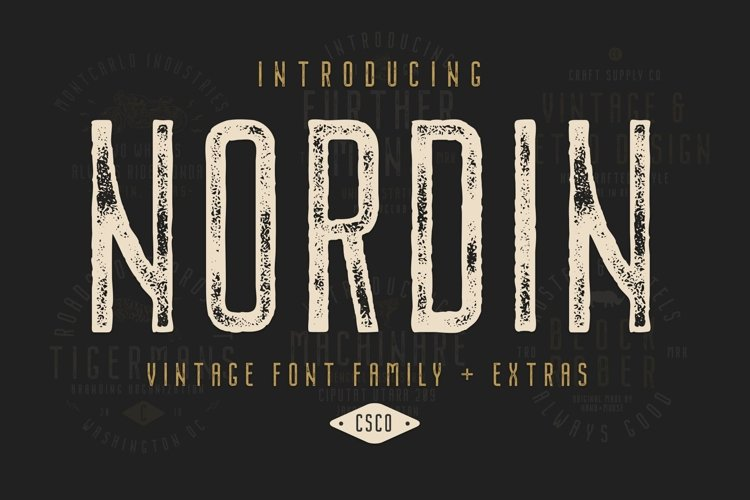 Nordin Vintage Font Family Bonus Badge Logo example image 1