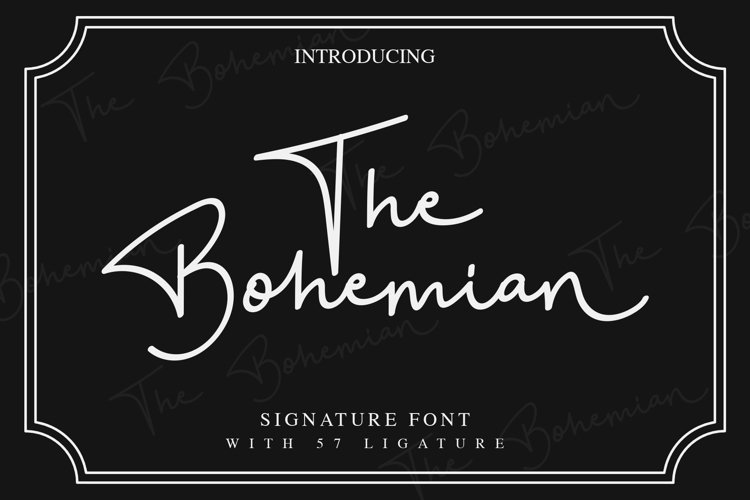 The Bohemian - a Signature Font example image 1