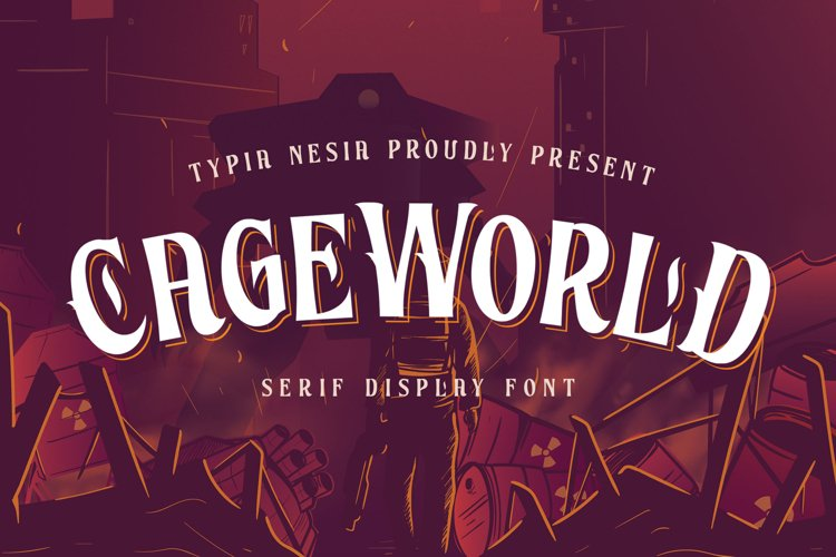 Cageworld Game Font example image 1
