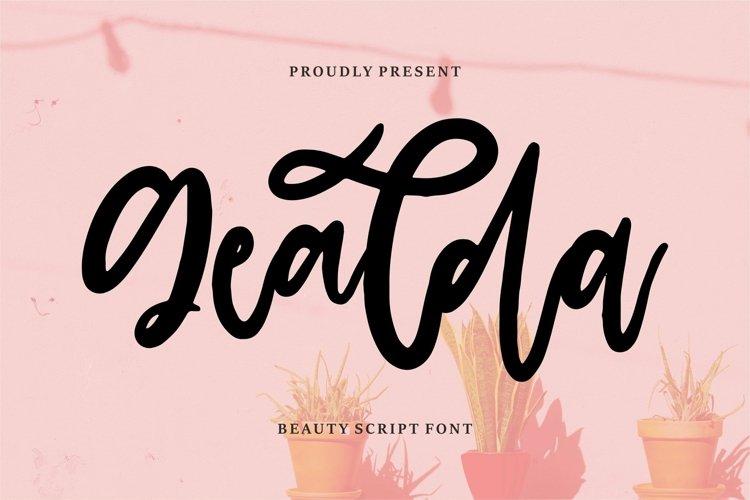 Web Font Gealda - Beauty Script Font example image 1