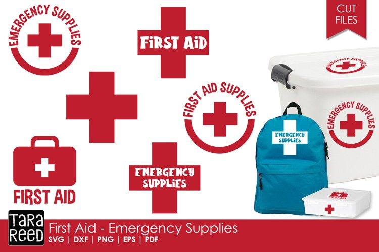 First Aid - Emergency Supplies - SVG and Cut Files