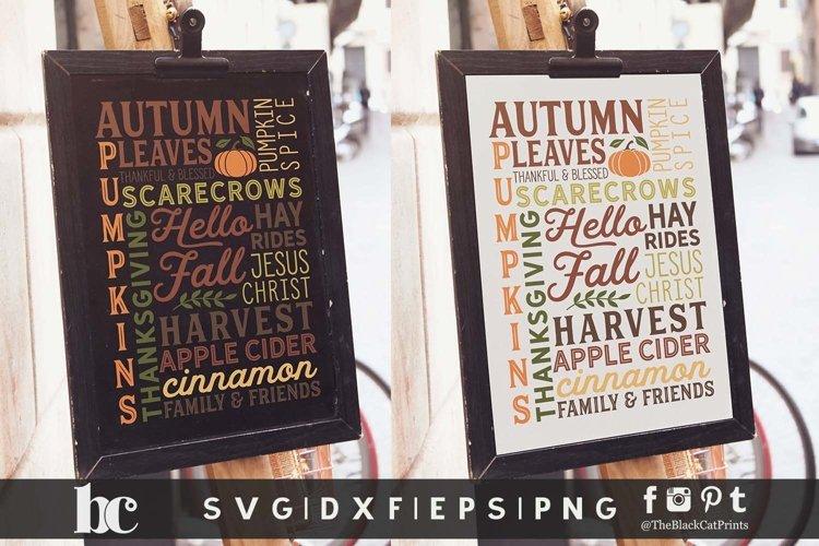 Fall Sign SVG | Hello Fall SVG | Thanksgiving Sign SVG