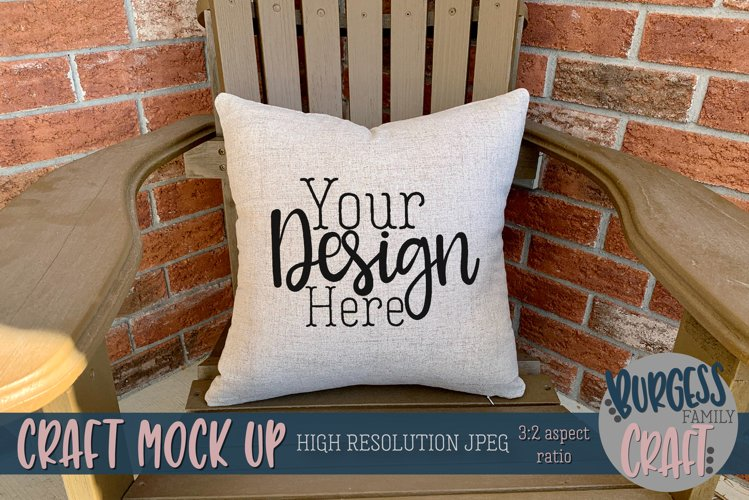 Square porch pillow | Craft mock up