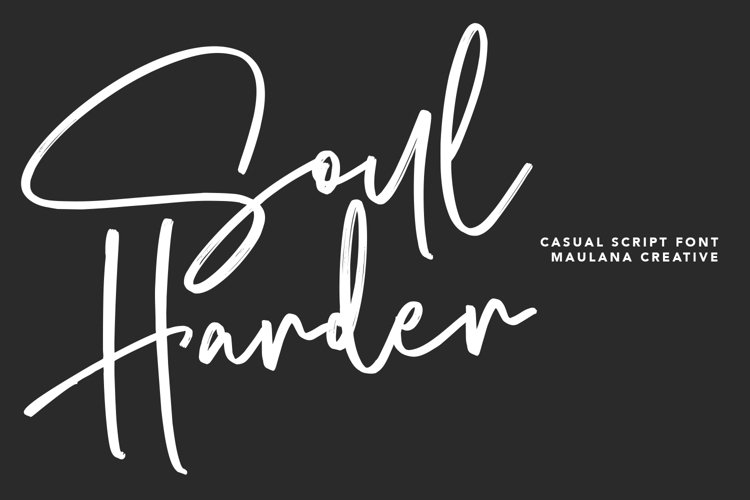 Soul Harder Casual Script Font example image 1