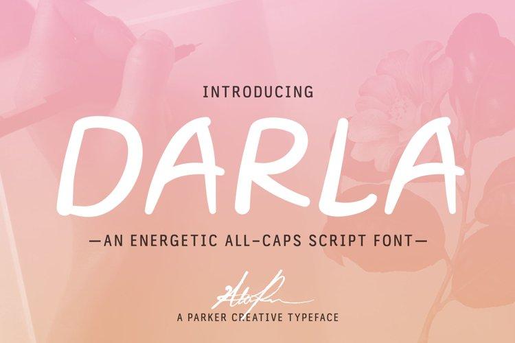 Darla Script Handwritten Webfont example image 1