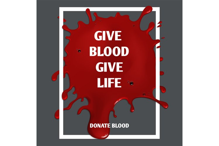 Donate blood vector motivation medical poster example image 1