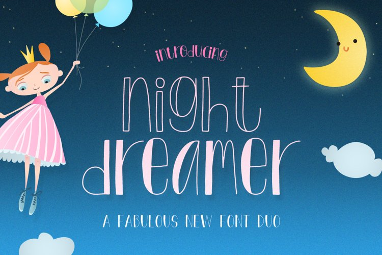 Night Dreamer Font Duo example image 1