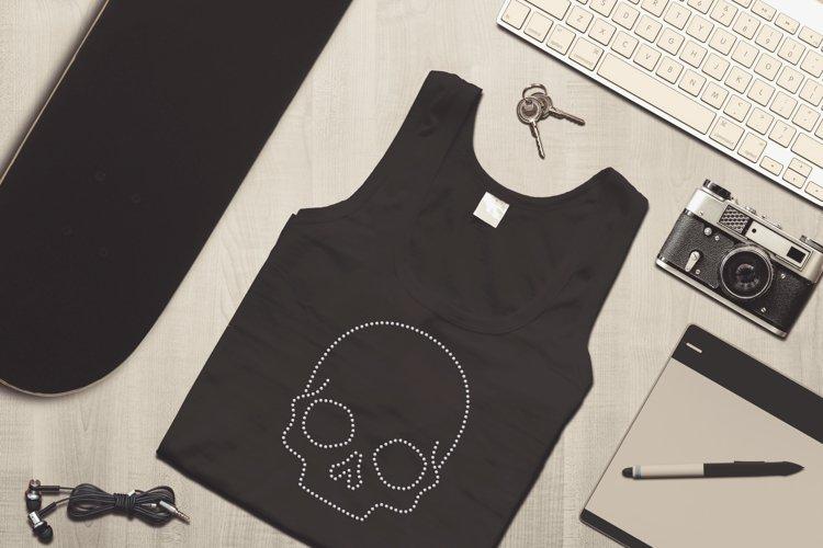 Skull Rhinestone SVG Template