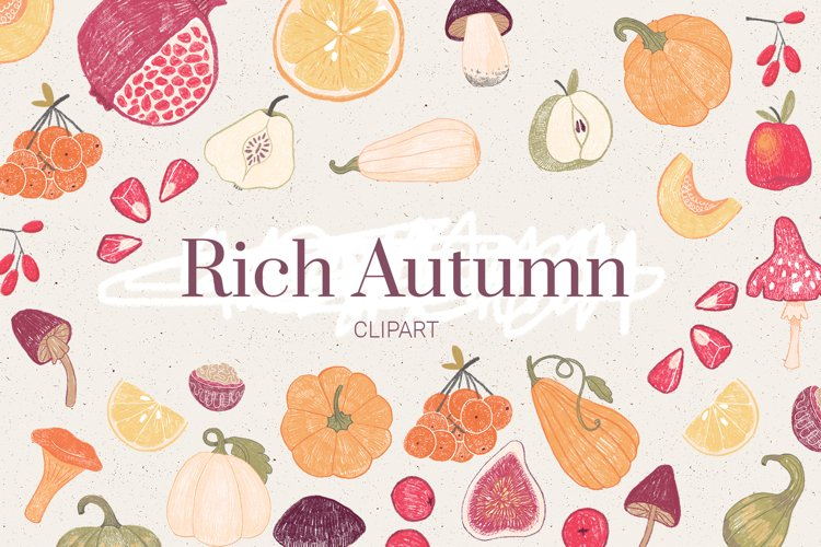 Autumn Clipart. Fall elements example image 1