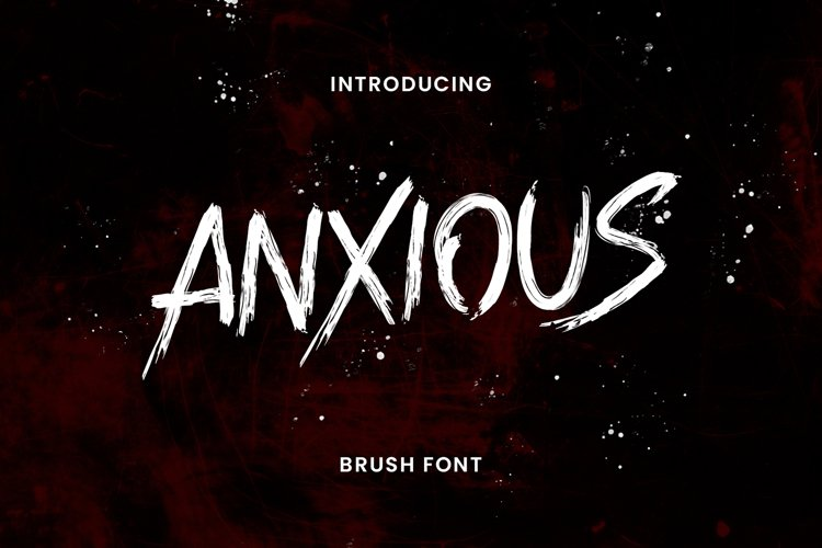 Anxious Brush Font example image 1