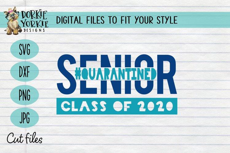 Quarantined Class of 2020 - Senior - Graduation SVG example image 1
