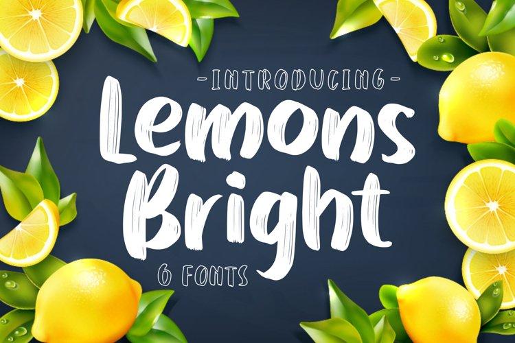 Lemons Bright - family display font- example image 1