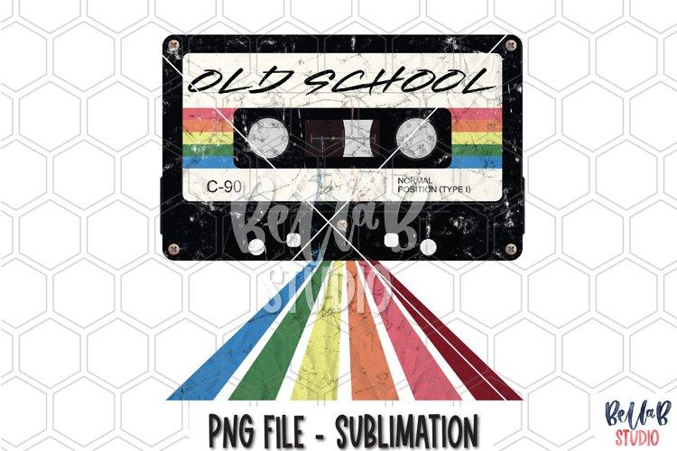 Old School- Retro Mixtape Sublimation Design