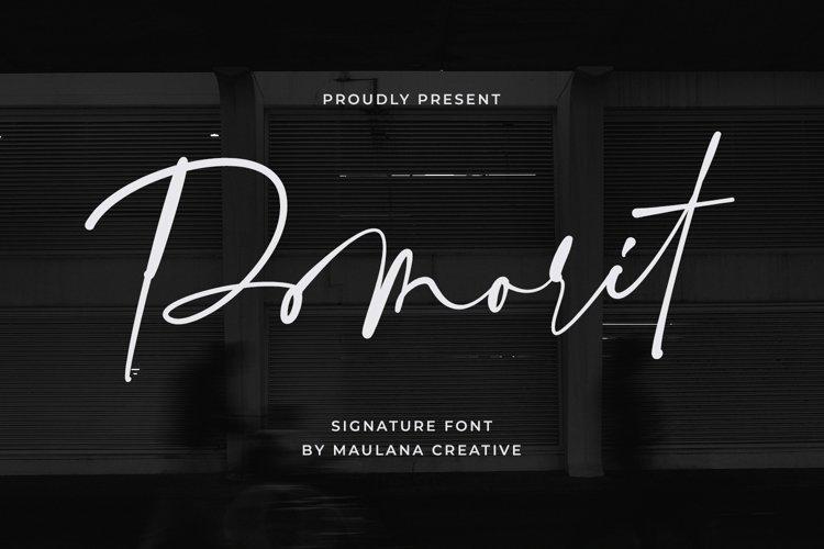 Pomorit Signature Font example image 1