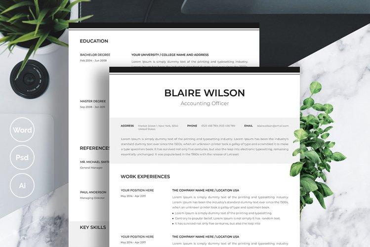 Black and White Minimal Resume example image 1