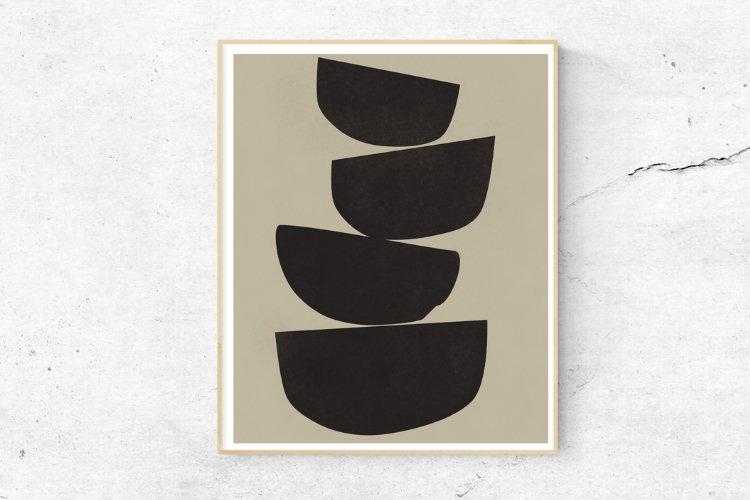 Black And Beige Wall Art, Minimalist Wall Decor, Printables