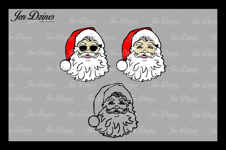 Santa SVG DXF EPS PNG example image 1