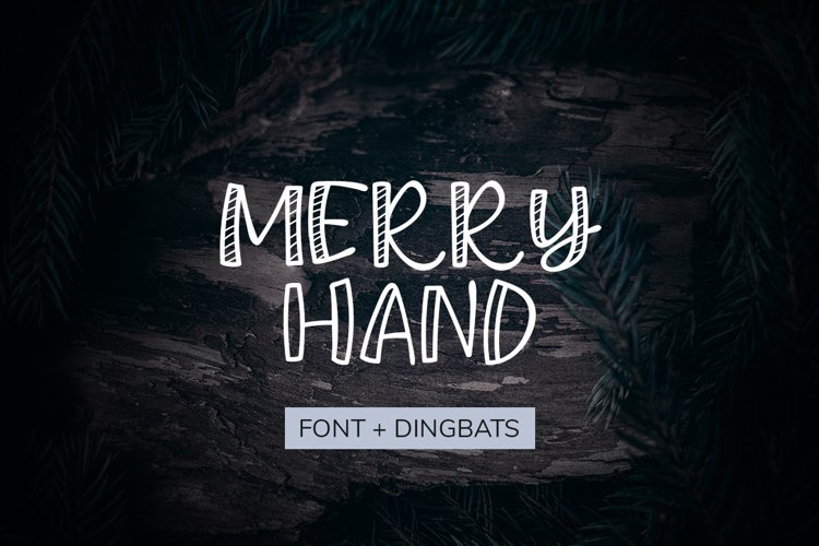 Merry Hand Christmas Font and Dingbats example image 1