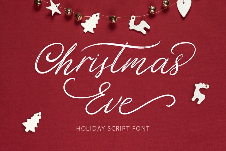 Christmas Eve. Holiday Script font. example image 1