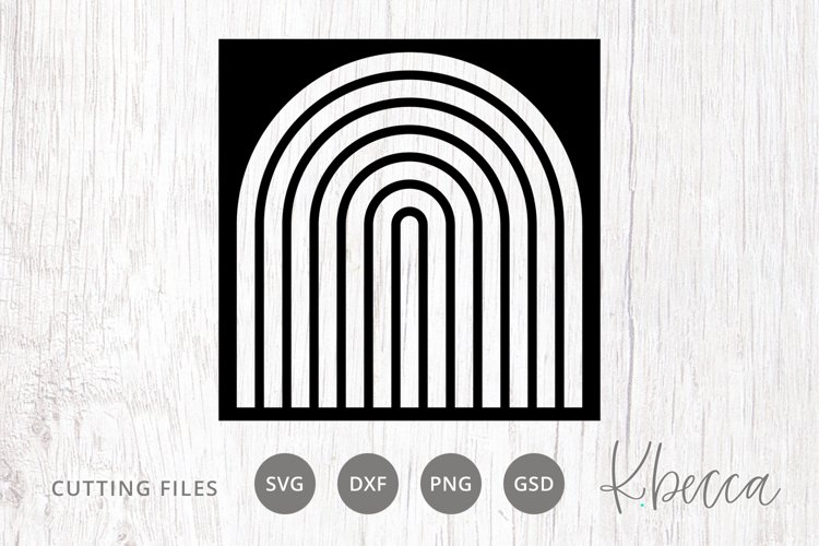 Arched Rainbow Stencil SVG Cut File for Card Making