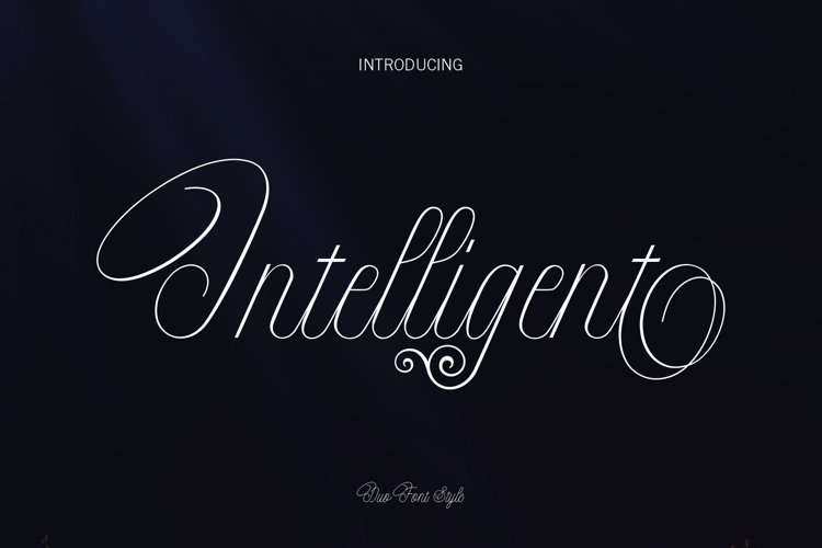 Intelligent | Duo Font Style