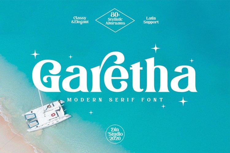 Garetha-Modern Serif Font