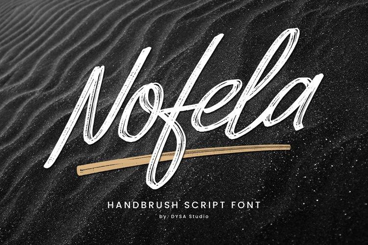 Nofela - Handbrush Script example image 1