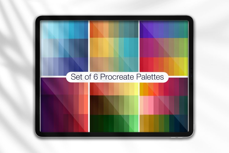 Procreate Color Palettes Pack. 180 Colors example image 1