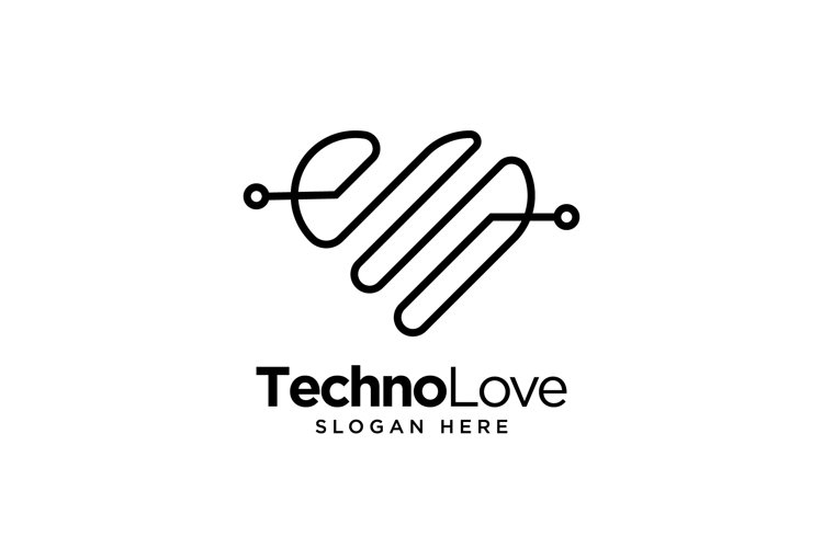 Techno Love Logo example image 1