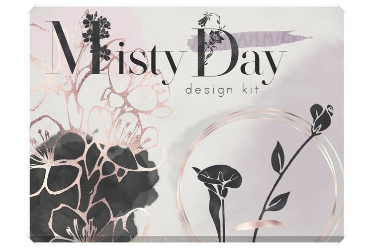 Misty Day - Watercolor Floral Design Bundle example image 1