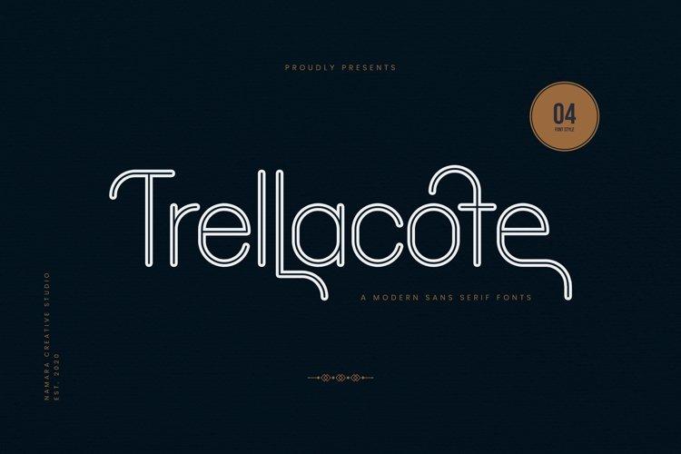 Trellacotte Modern Sans Serif Fonts example image 1