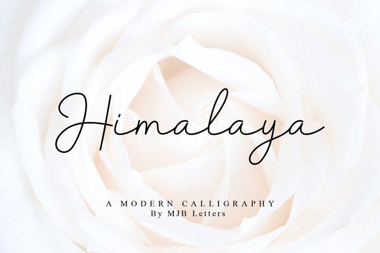Himalaya Modern Calligraphy example image 1